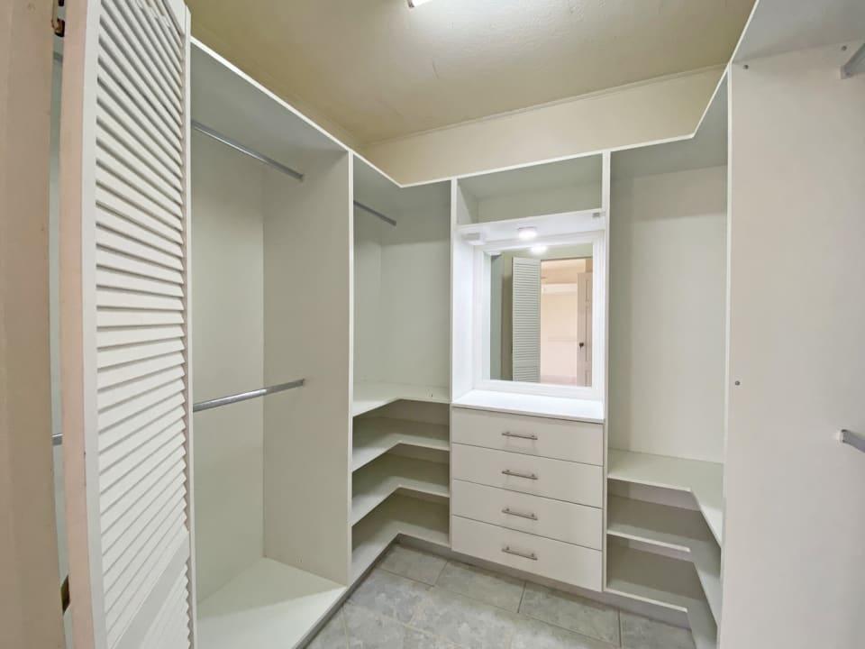 Walk in closet off the primary bedroom