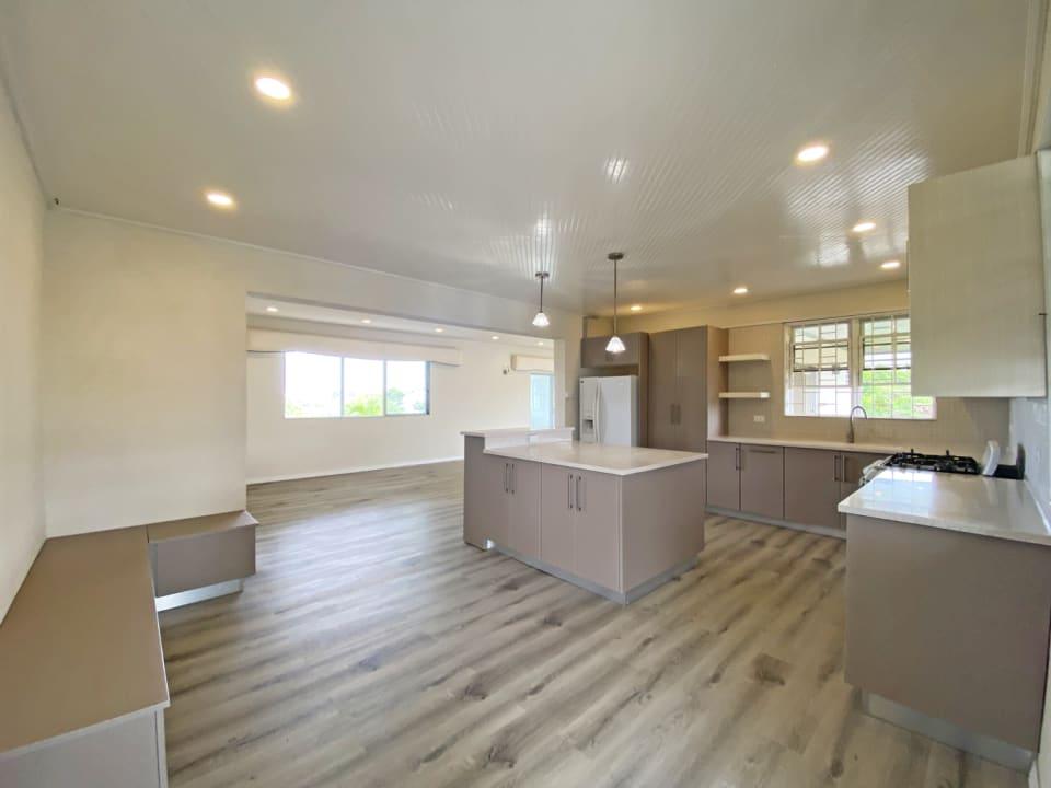 Modern kitchen with breakfast nook
