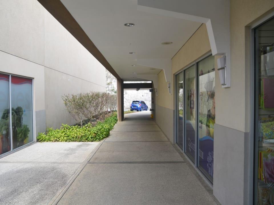 Corridor to washrooms
