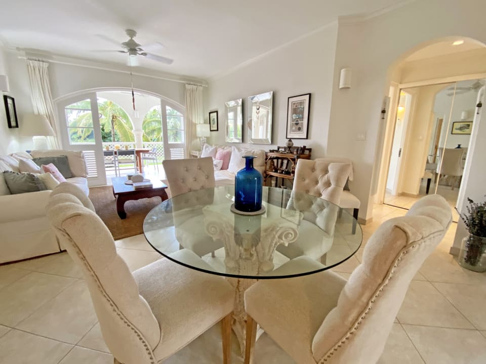 Open plan kitchen, dining and living areas