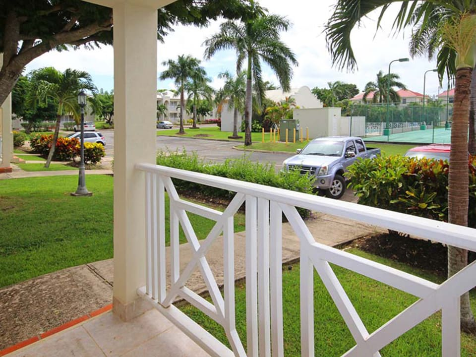 View from front patio - parking by entry