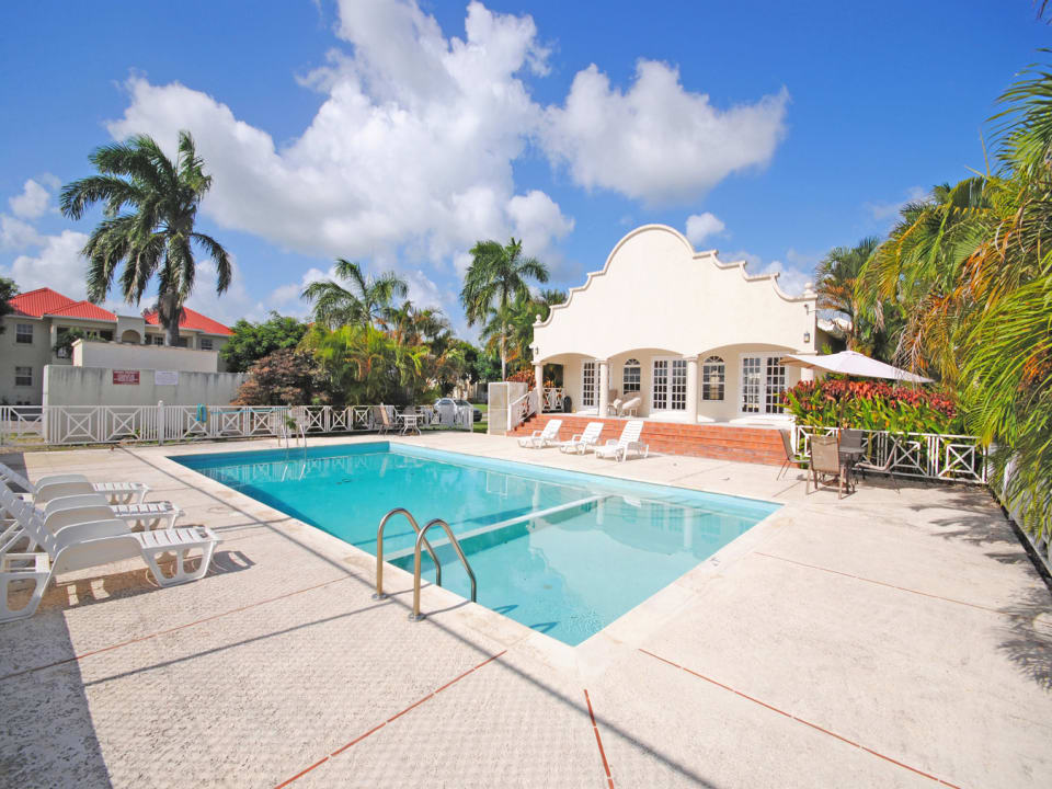 Large pool and deck area