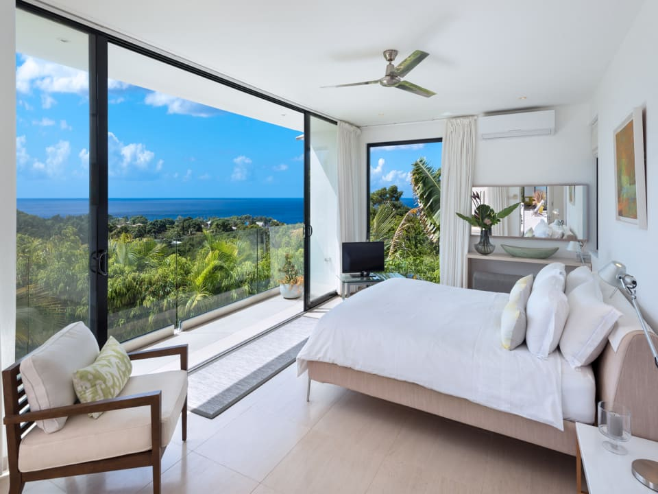 Master Bedroom with Views of the Gully and Sea