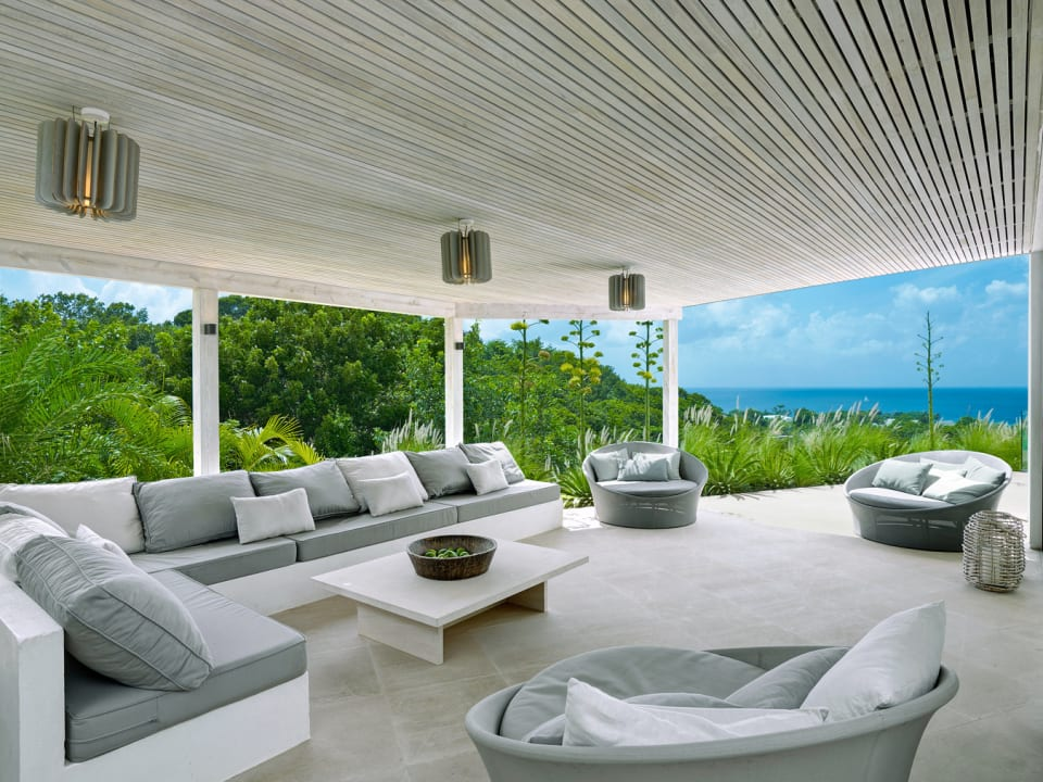 Covered Patio with views of the West Coast of Barbados