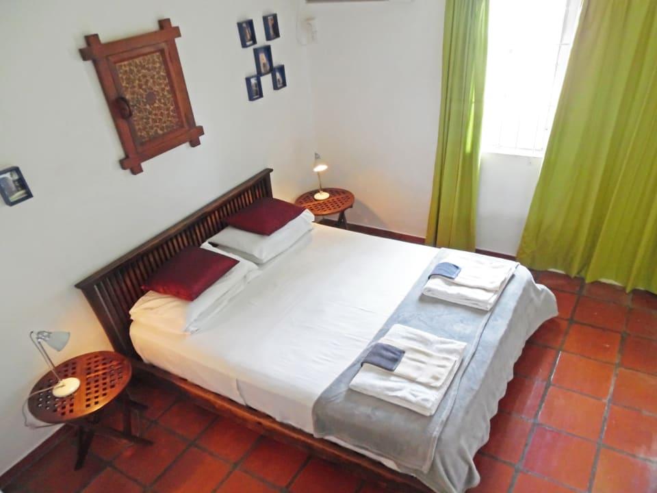 Bedroom opening onto the garden