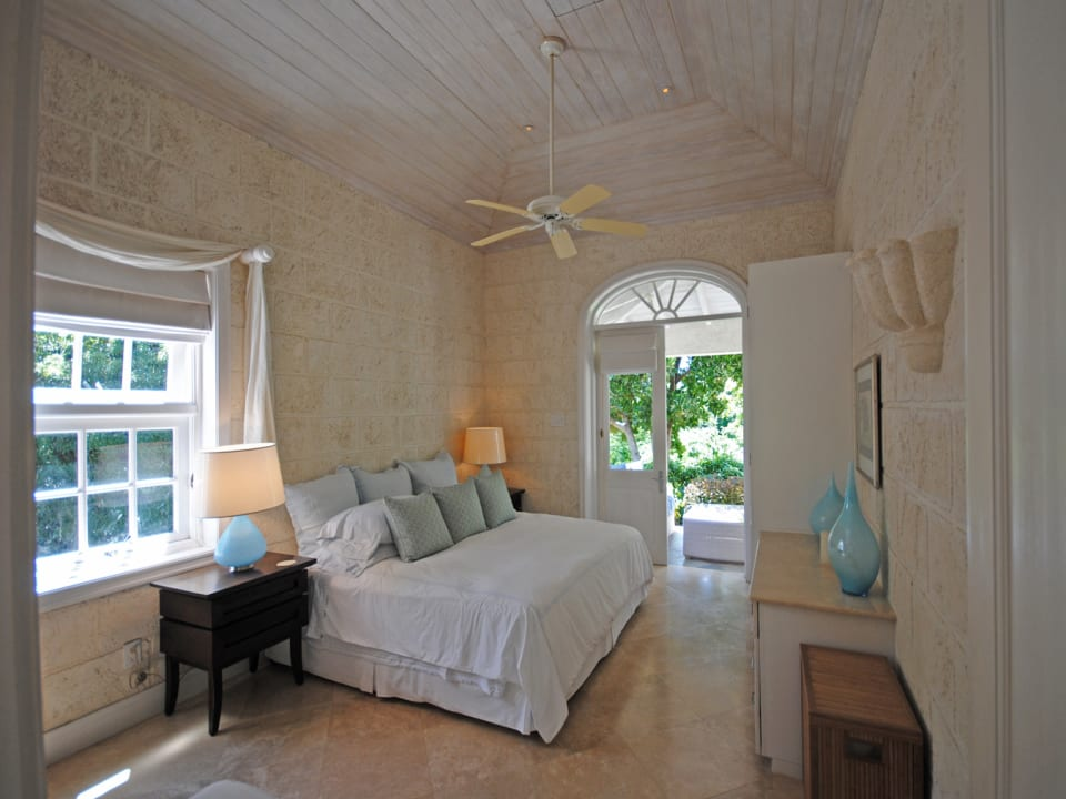 One of the bedrooms in the second cottage