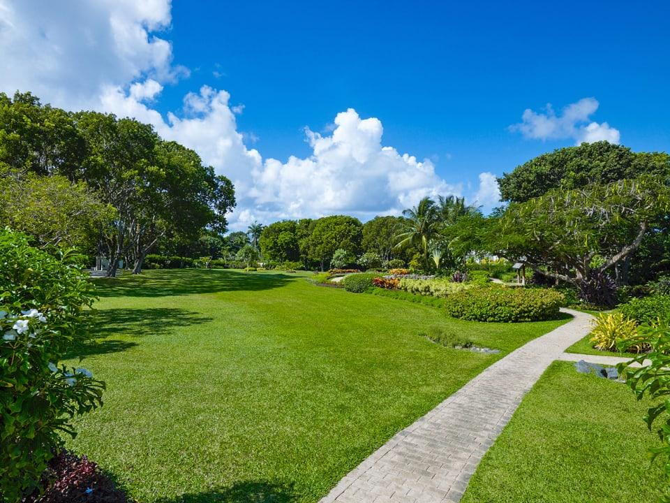 Lavish gardens
