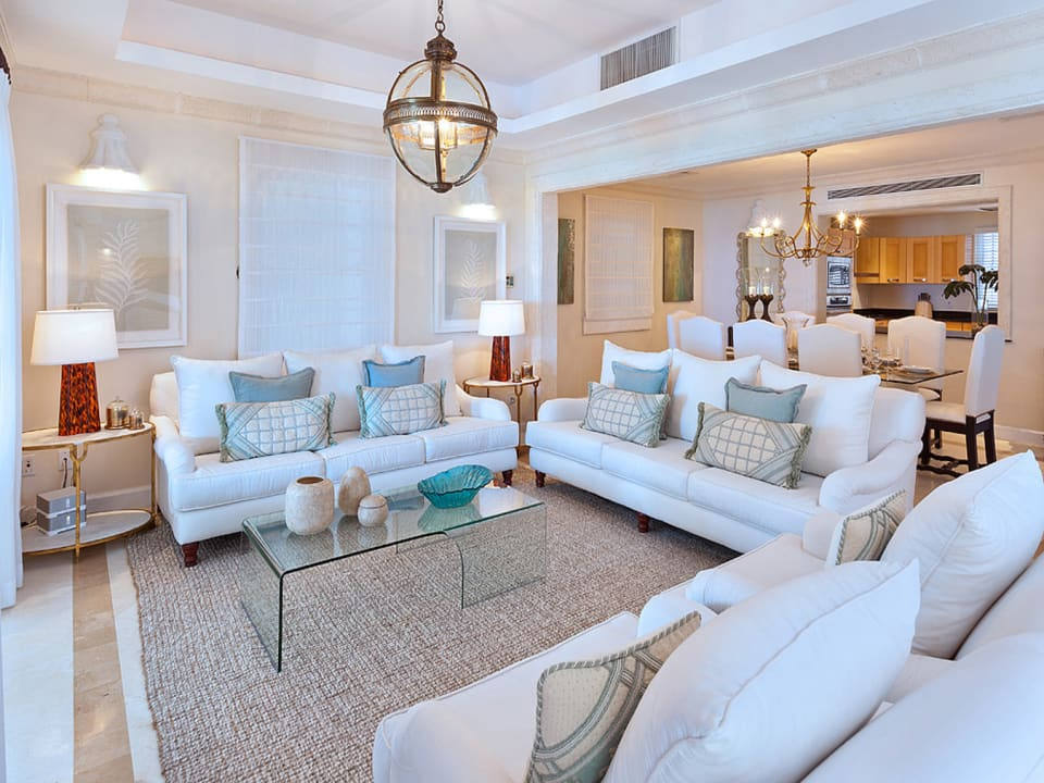 Formal sitting room connects dining room and main terrace