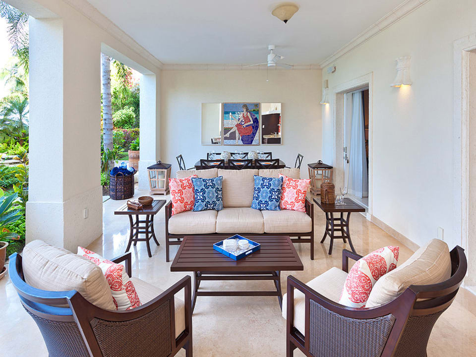 Lower level terrace opens to private pool and landscaped gardens