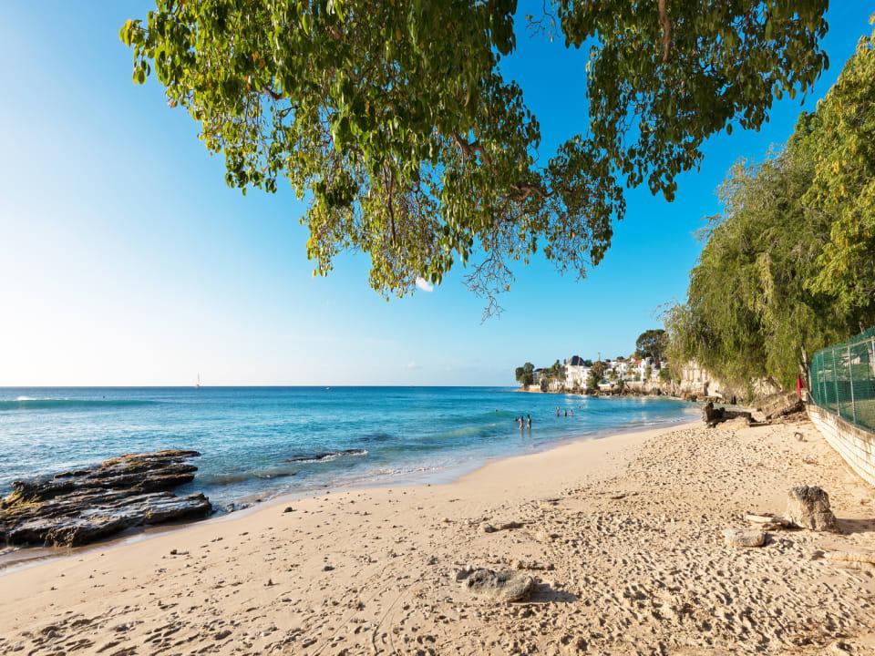 Beautiful beach at Batts Rock