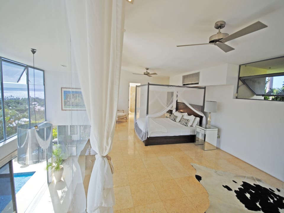 Master bedroom has wonderful sea views