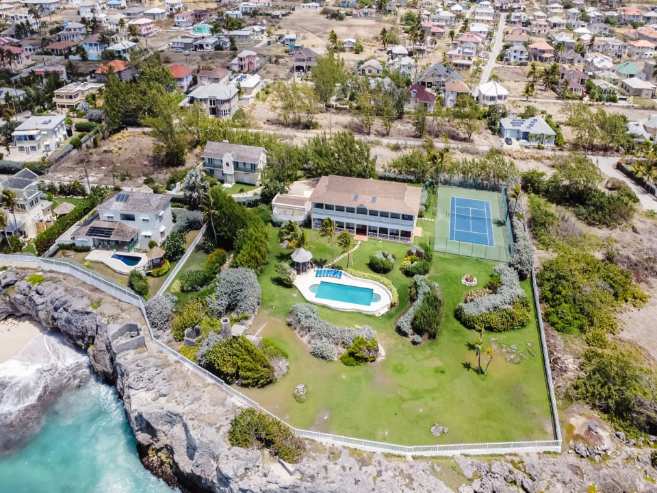 Aerial View of Belair Great House
