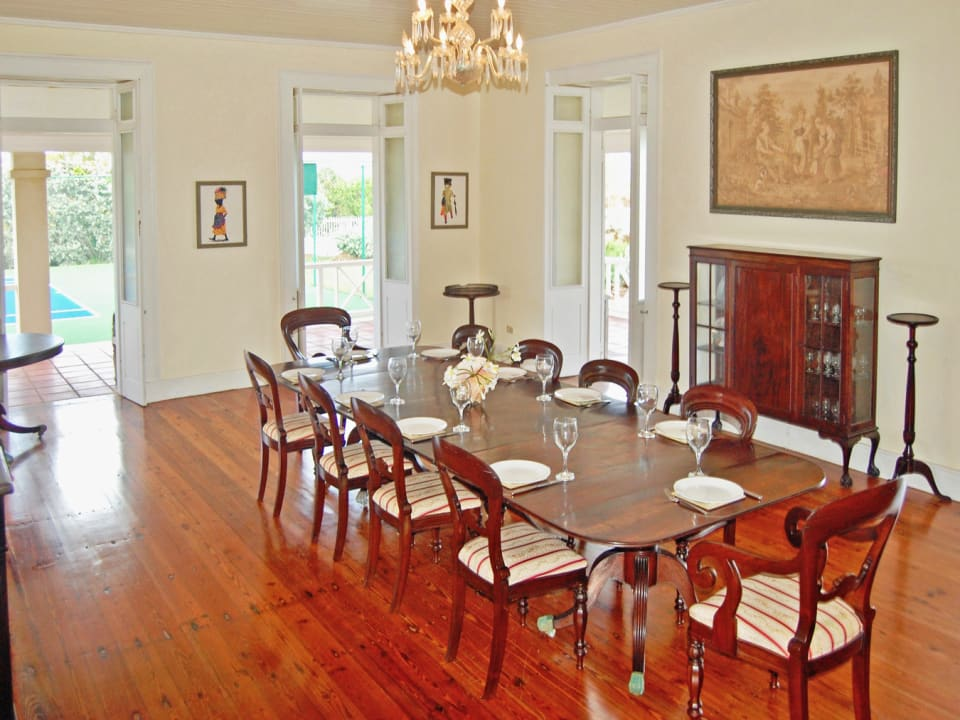 Formal Dining Room in the main house