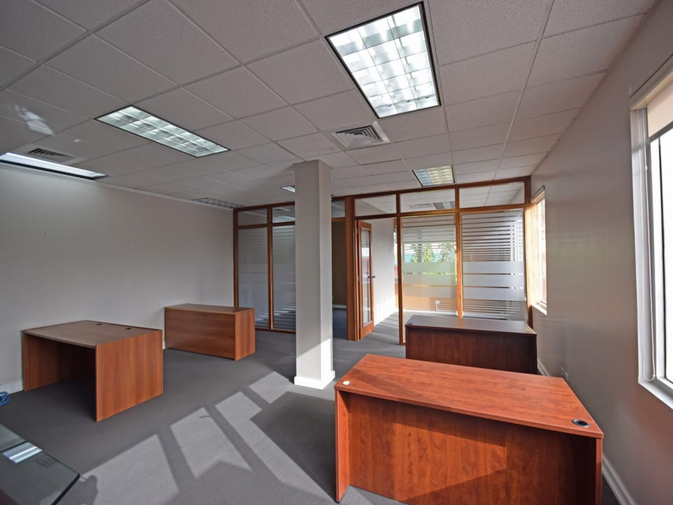 Main office with cubicles