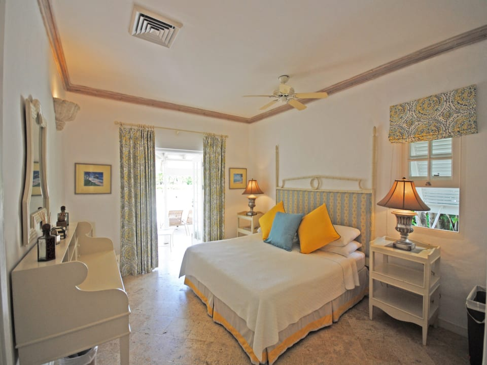 Master bedroom opens to covered terrace