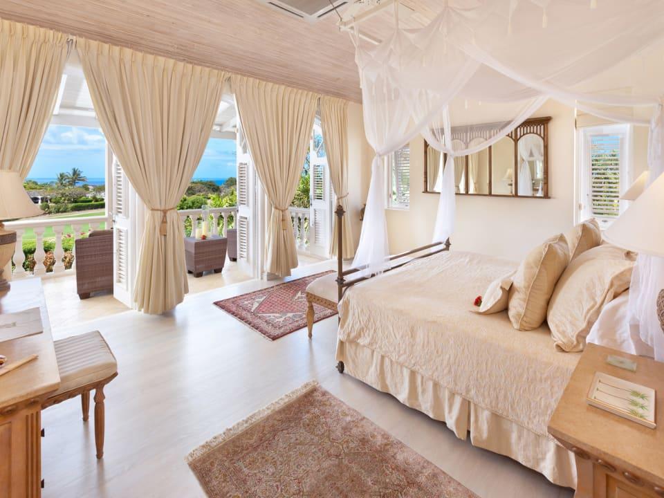 Master bedroom suite with sea views