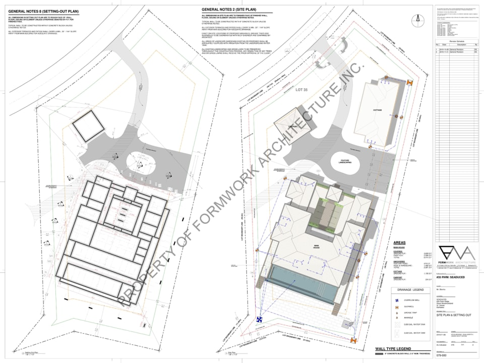 Site plan with neighbouring property, Tradewinds