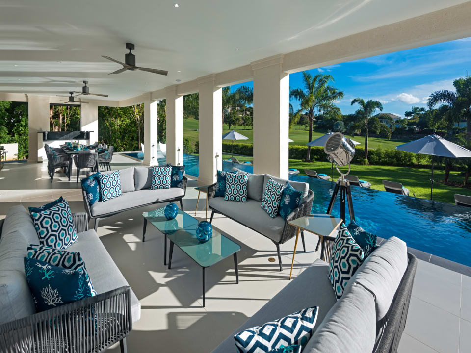 Outdoor patio seating