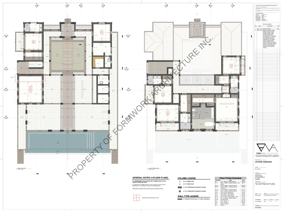 Floor plans of Seaduced