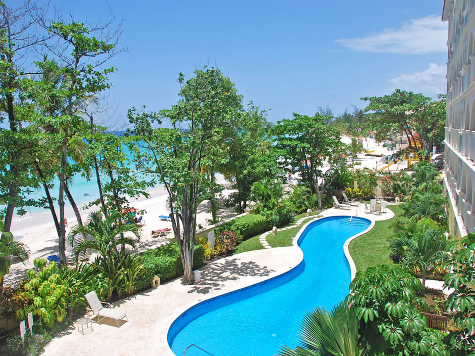 Pool and ocean views from the balcony