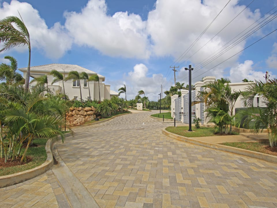 Driveway into the development