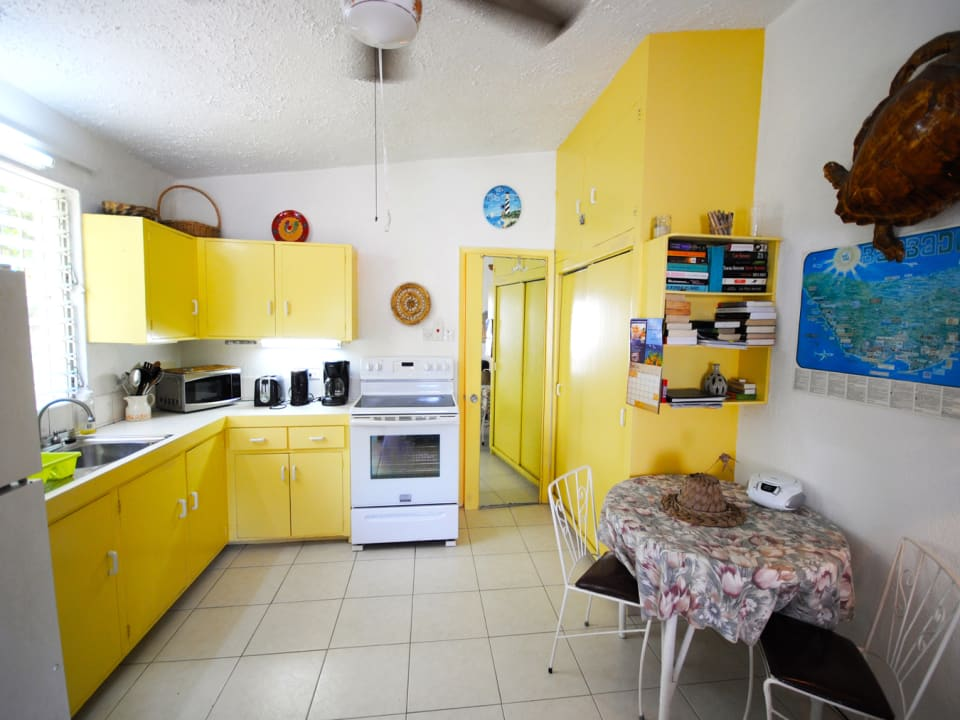 Full size kitchen and dining