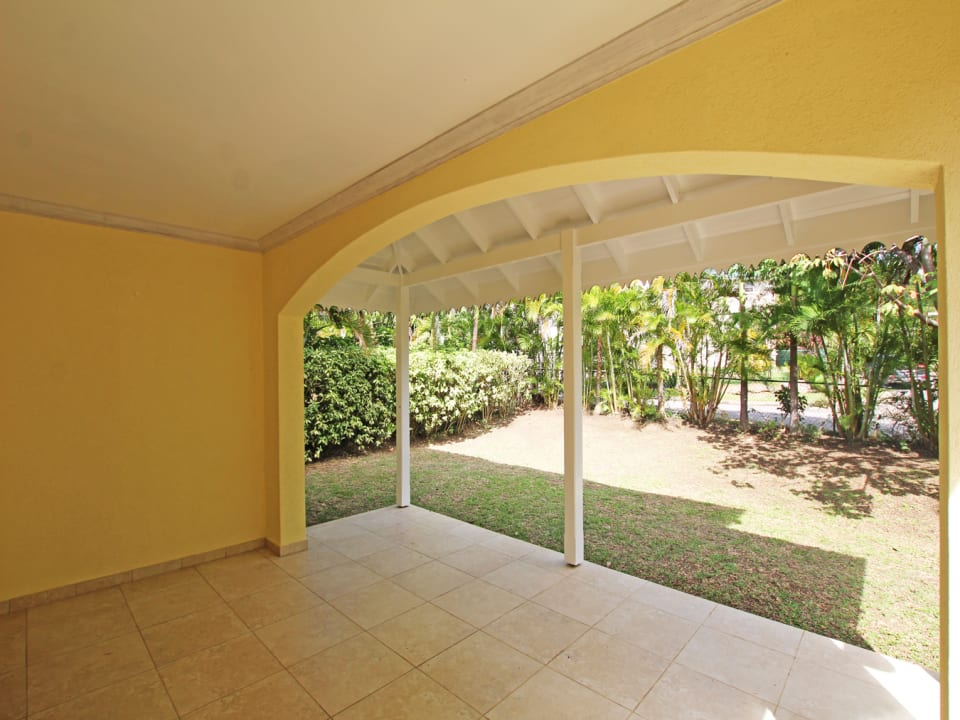 Patio with Mature Gardens