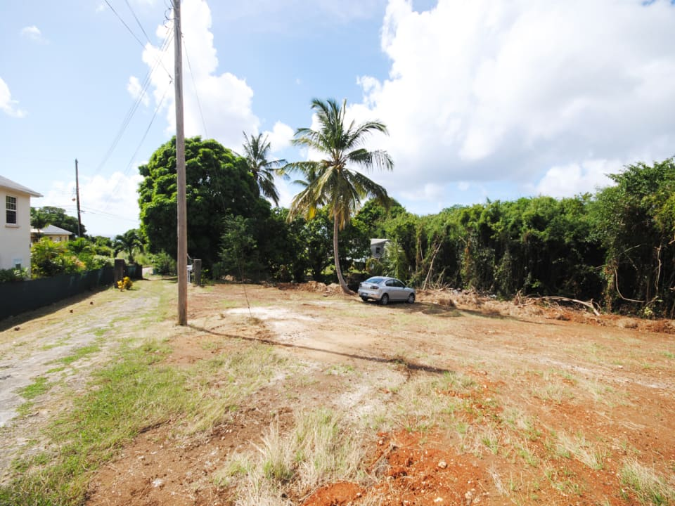 Land in front of the house