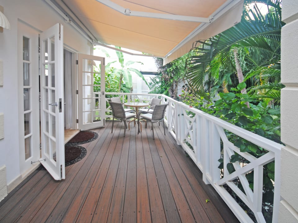 Balcony off of the cottage suite