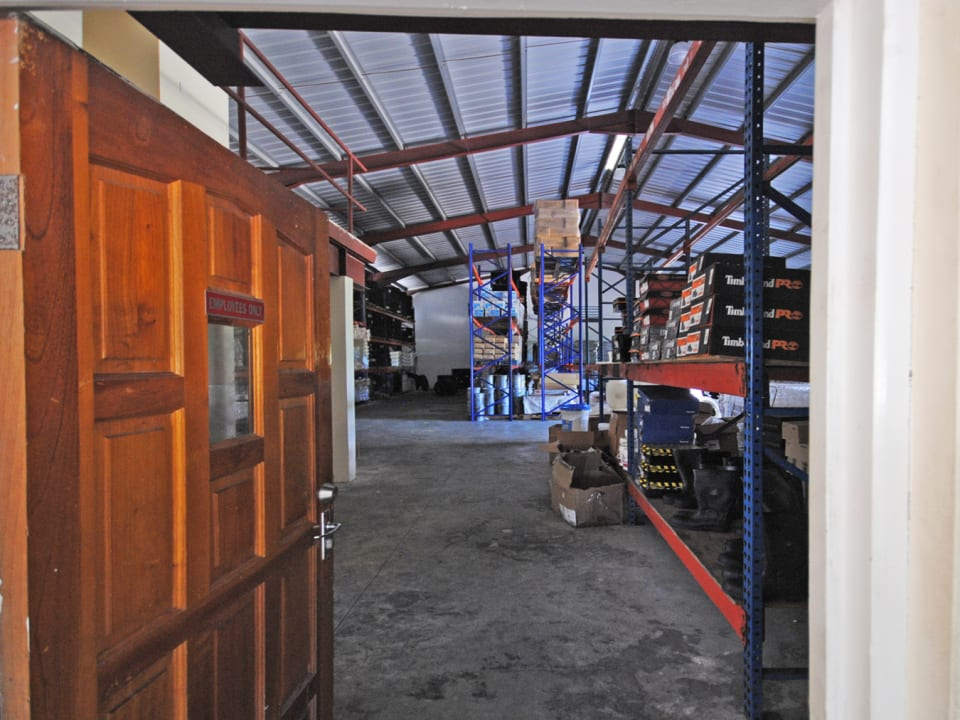 Warehouse behind retail space