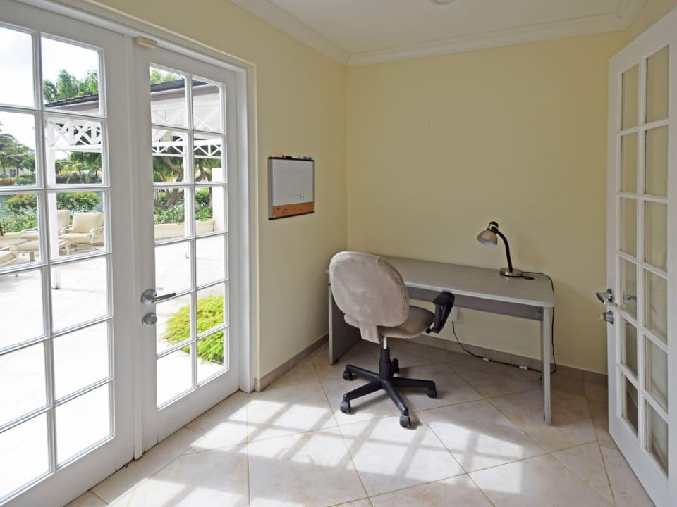 Office off of ground floor bedroom
