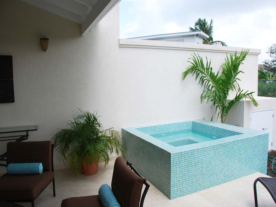 Patio with plunge pool