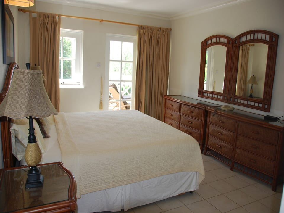 Master bedroom with access to patio