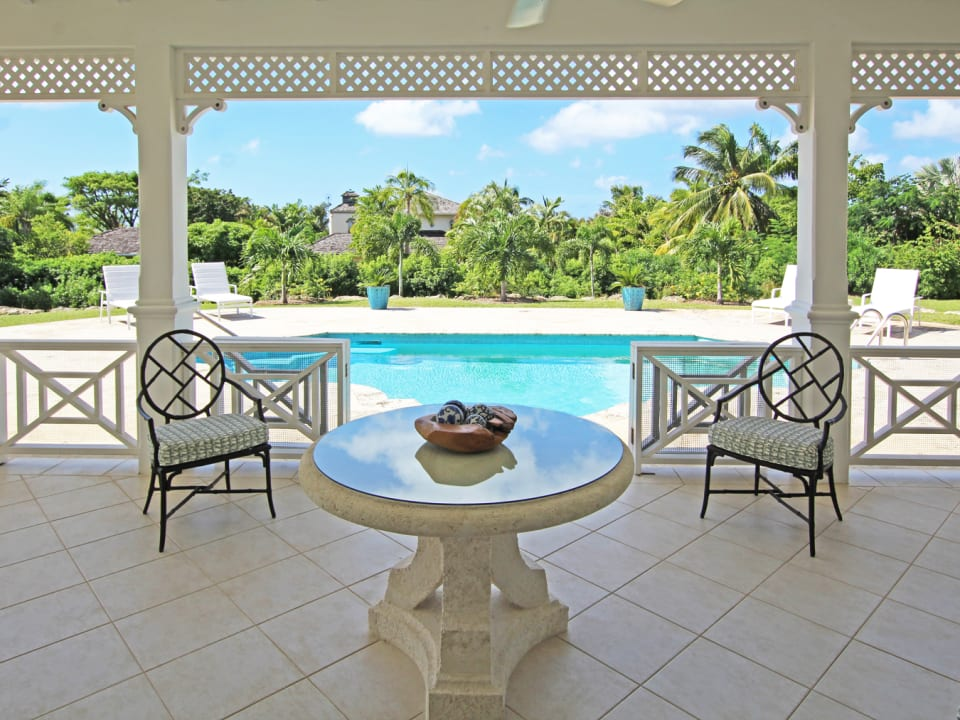 Verandah and pool