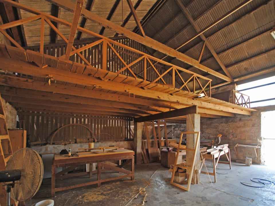 One of two Mezzanine floors in the smaller section of the building