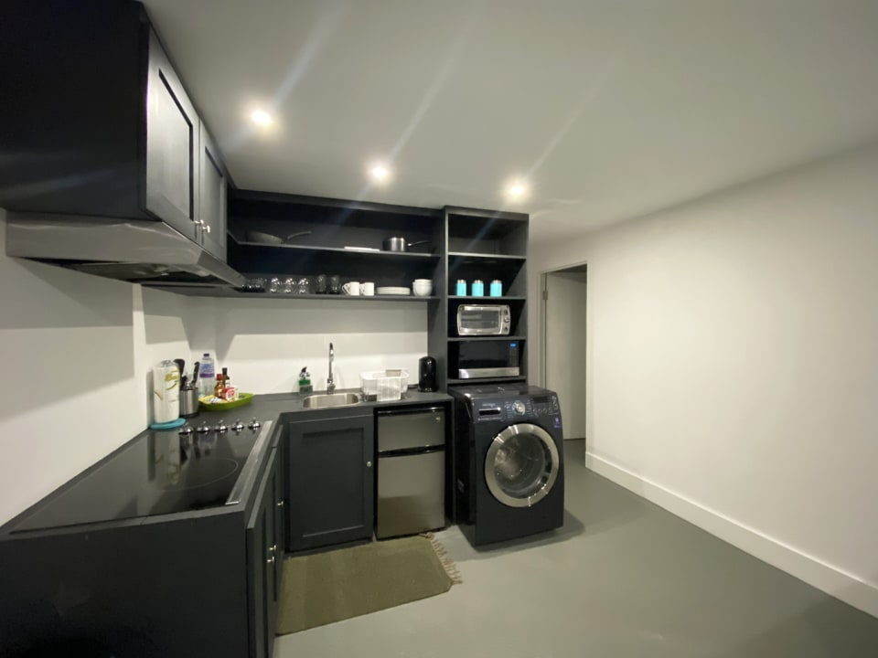 Kitchen in a Lower Level Suite
