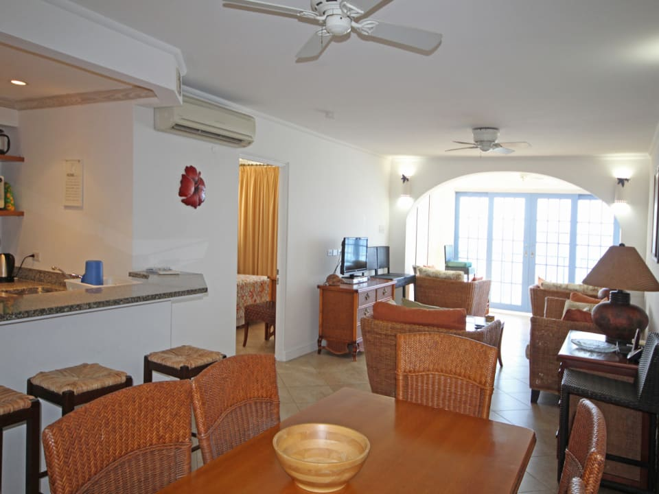 Outlook for dining area