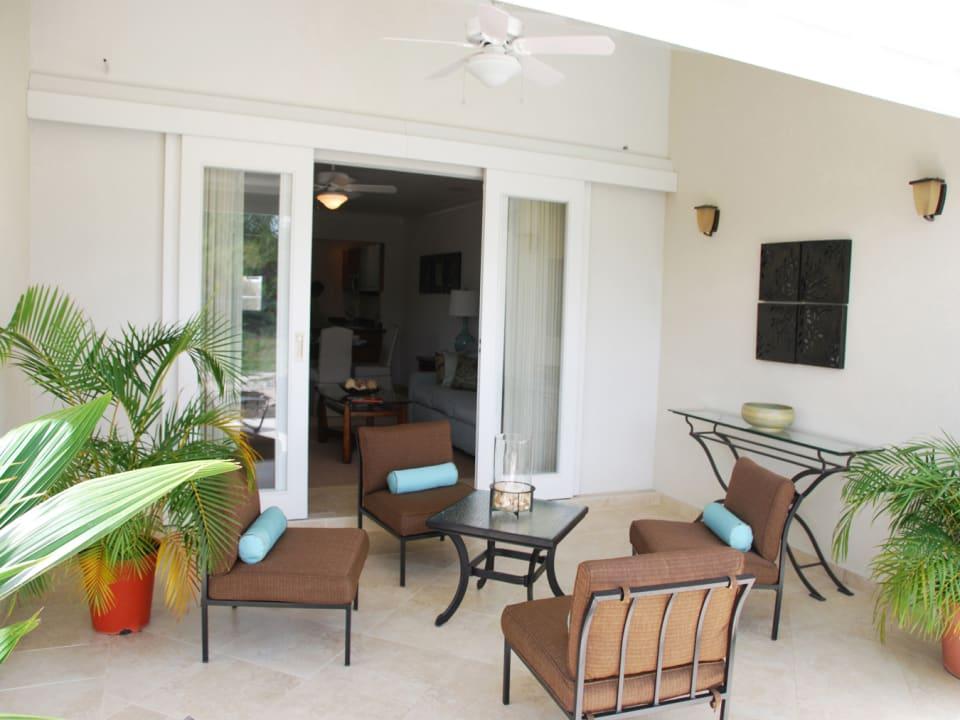 Patio facing living area