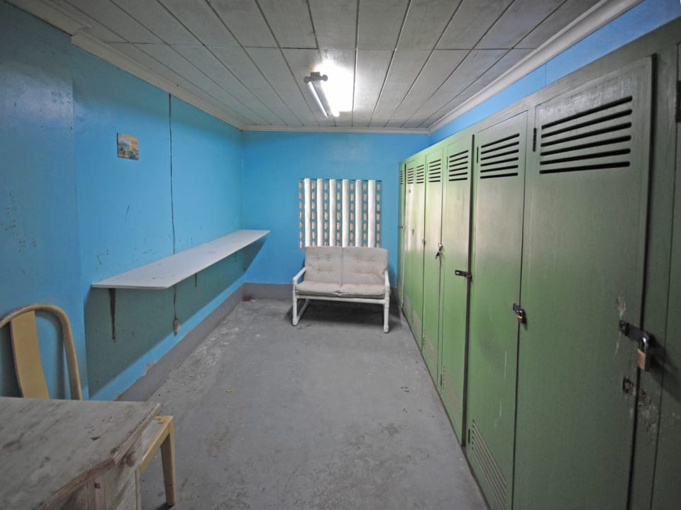Staff lockers or storage