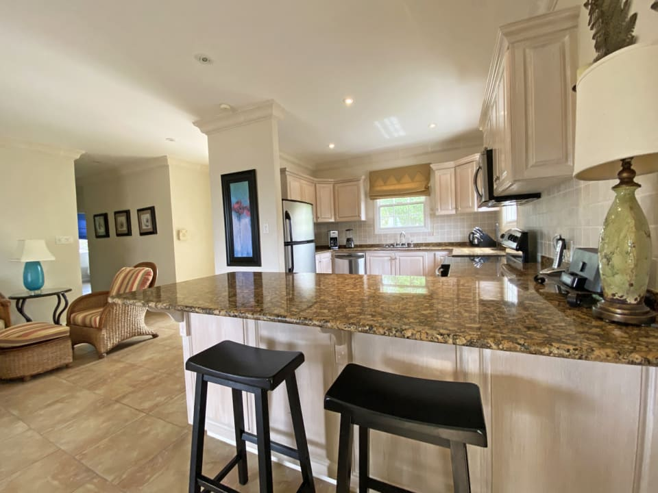 Kitchen with breakfast counter