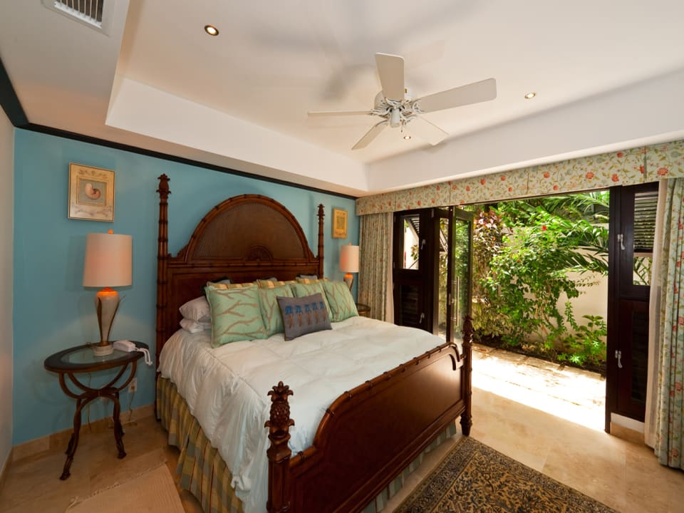 Master bedroom suite with patio