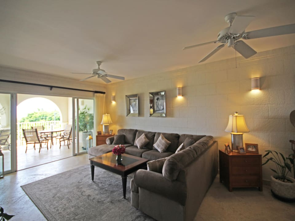 Living area opens to covered patio