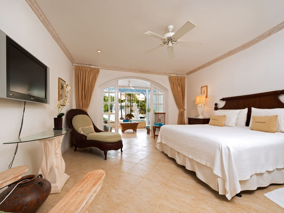 Main bedroom opens to terrace and plunge pool