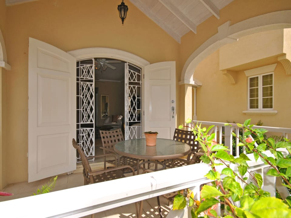 Looking into Front Patio