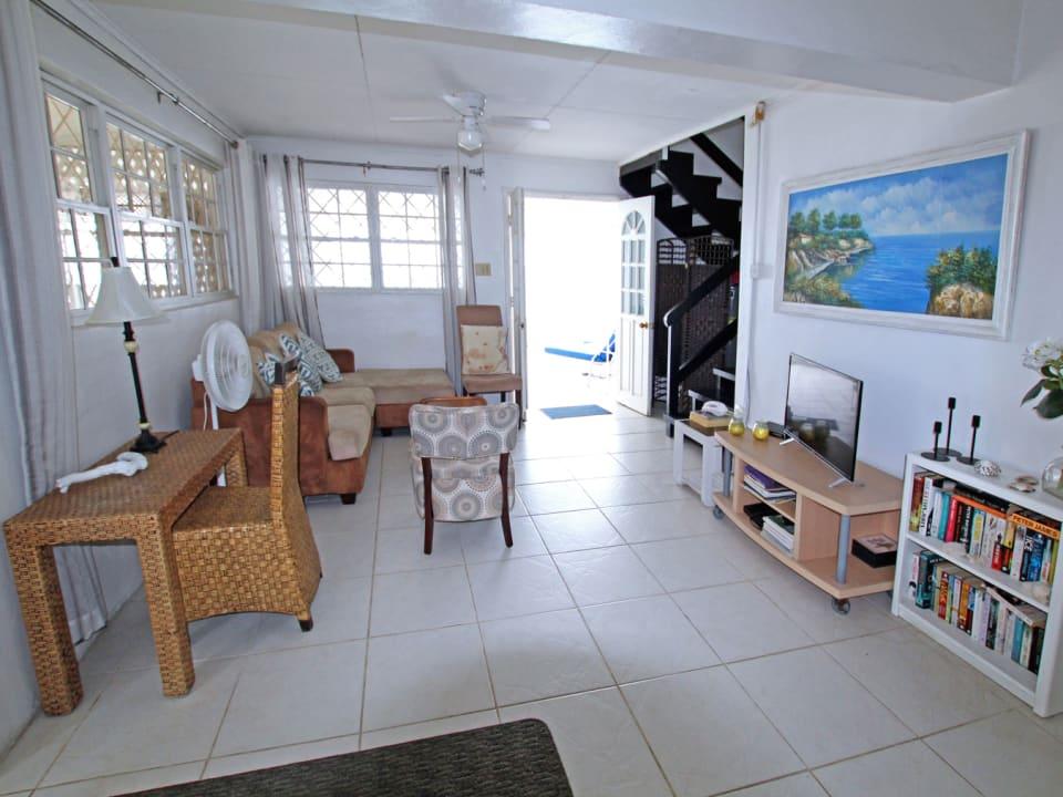 Ground floor from the kitchen