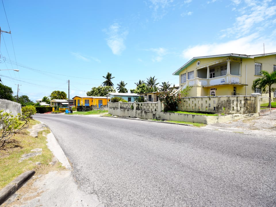 Main road leading to Oistins