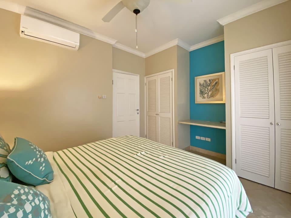 Guest Bedroom with Built in Cupboards