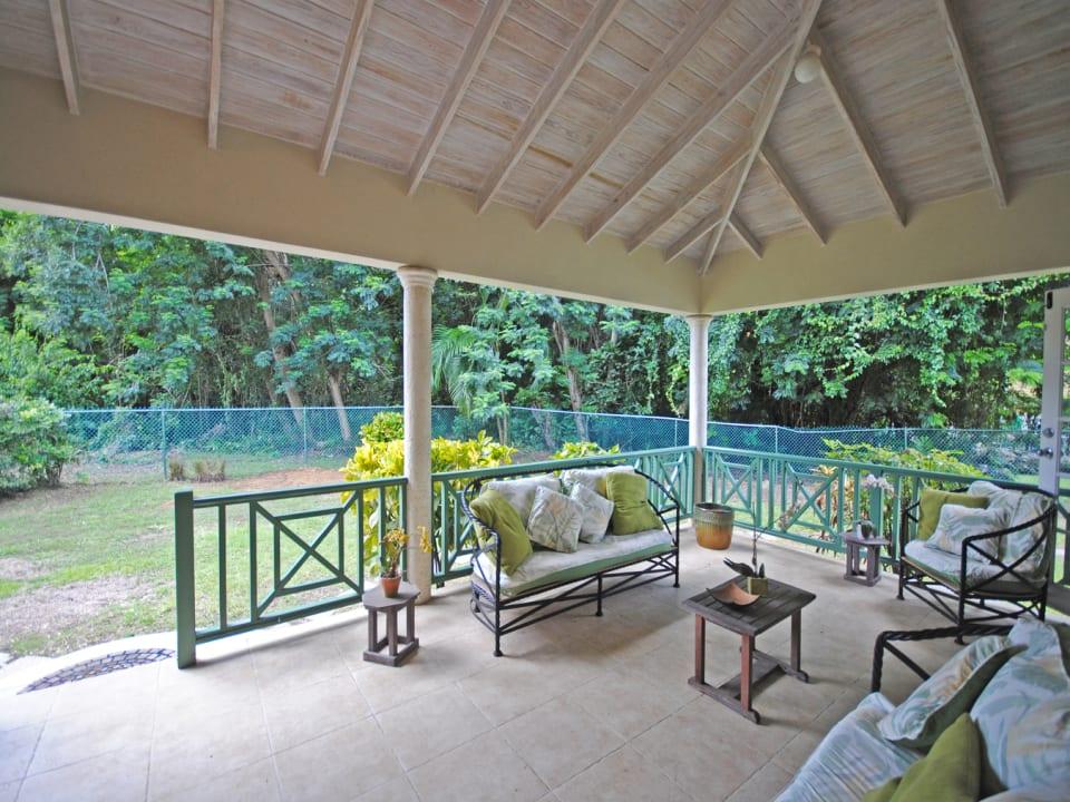 Spacious covered veranda