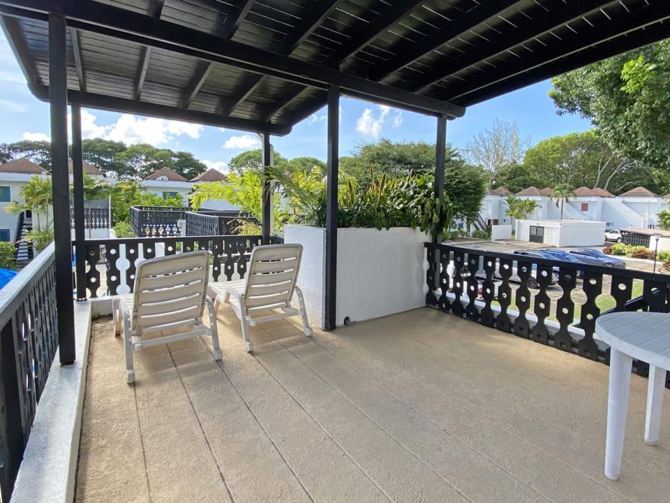 Huge patio