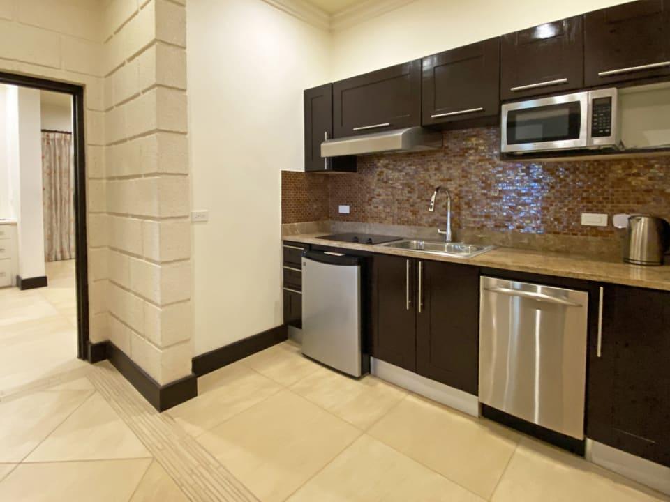 Upstairs kitchenette/coffee bar